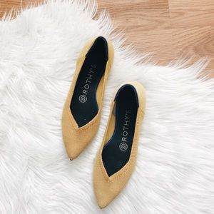 Rothy's | Yellow Pointed-Toe Flats